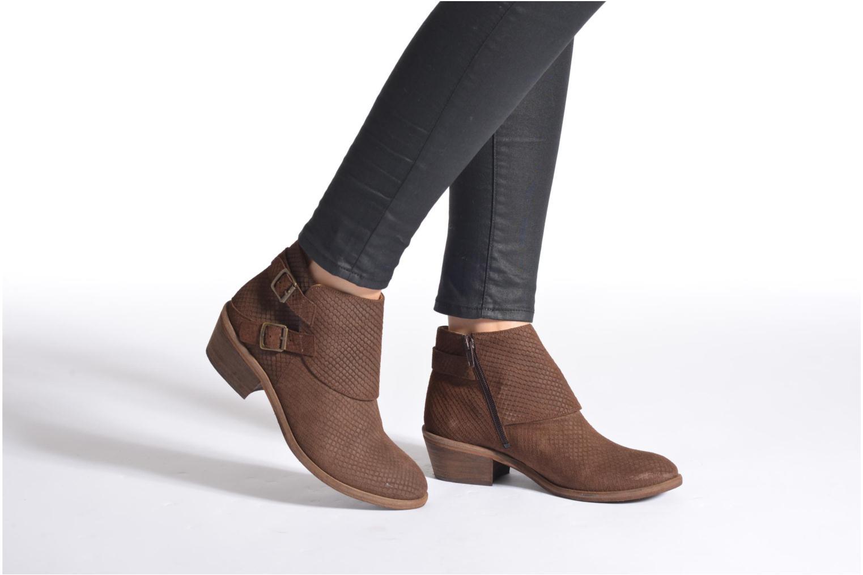 Bottines et boots Schmoove Woman Aim Buckle Noir vue bas / vue portée sac