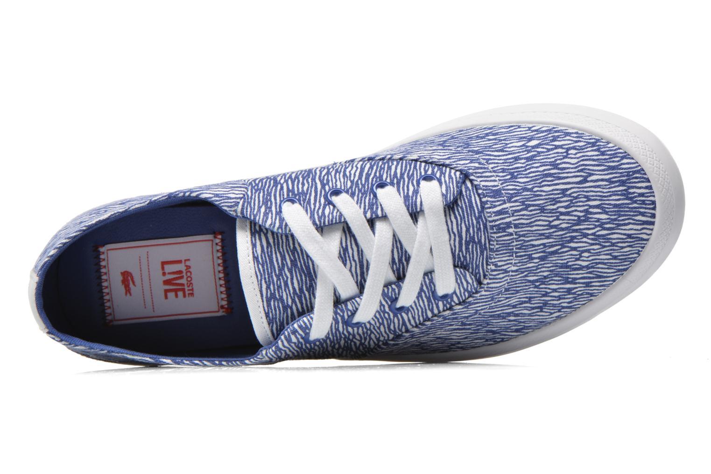 Baskets Lacoste Rene Chunky 216 G2 Bleu vue gauche