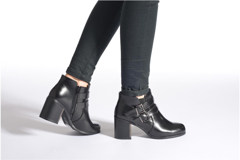 Stiefeletten & Boots Divine Factory Omine schwarz ansicht von unten / tasche getragen