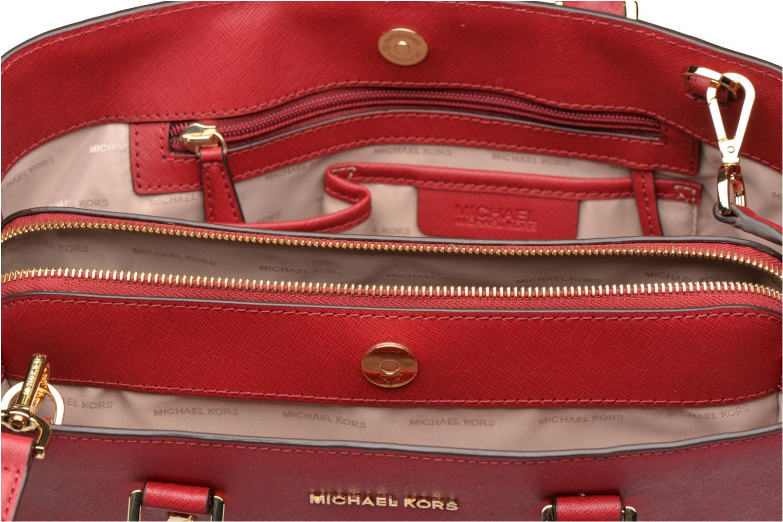 Bolsos de mano Michael Michael Kors SAVANNAH LG SATCHEL Rojo vistra trasera