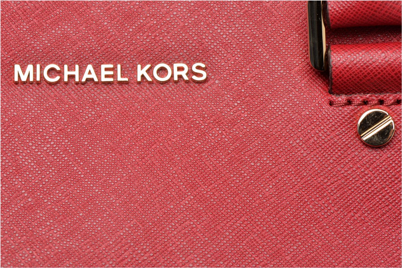 Sacs à main Michael Michael Kors SAVANNAH LG SATCHEL Rouge vue gauche