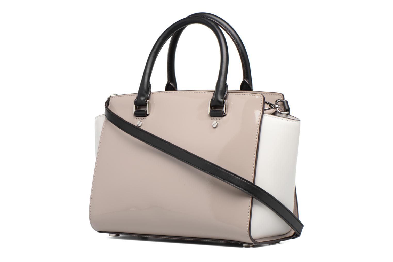 Handbags Michael Michael Kors SELMA MD TZ SATCHEL Grey view from the right