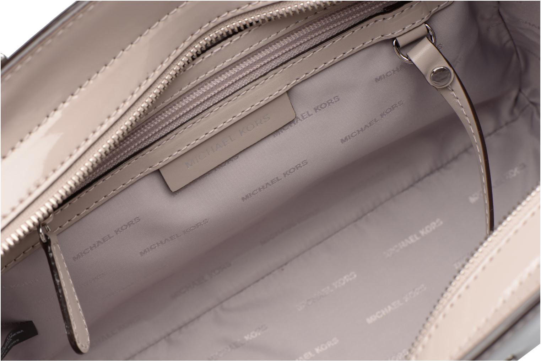 Handbags Michael Michael Kors SELMA MD TZ SATCHEL Grey back view