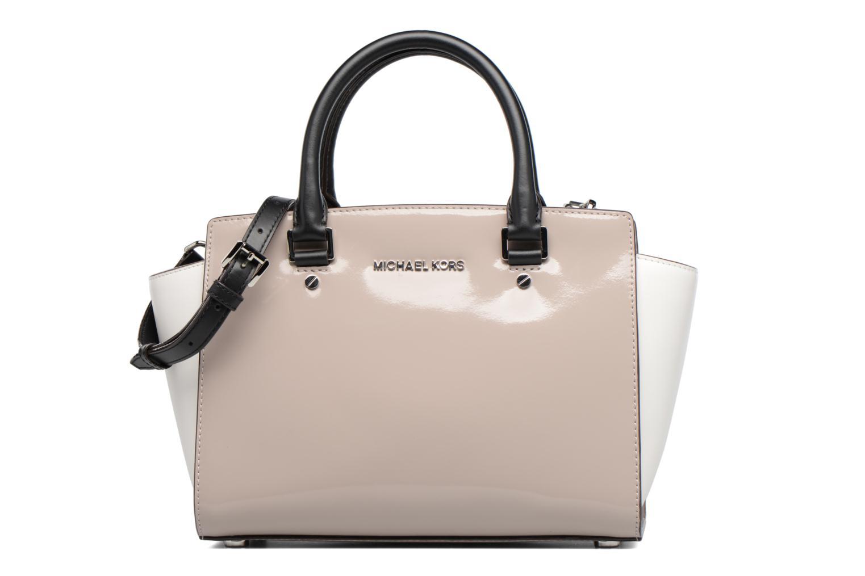 Handbags Michael Michael Kors SELMA MD TZ SATCHEL Grey detailed view/ Pair view