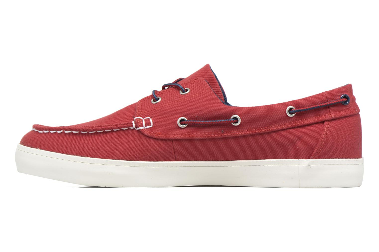 Chaussures à lacets Timberland Newport Bay 2 Eye Boat Ox Rouge vue face