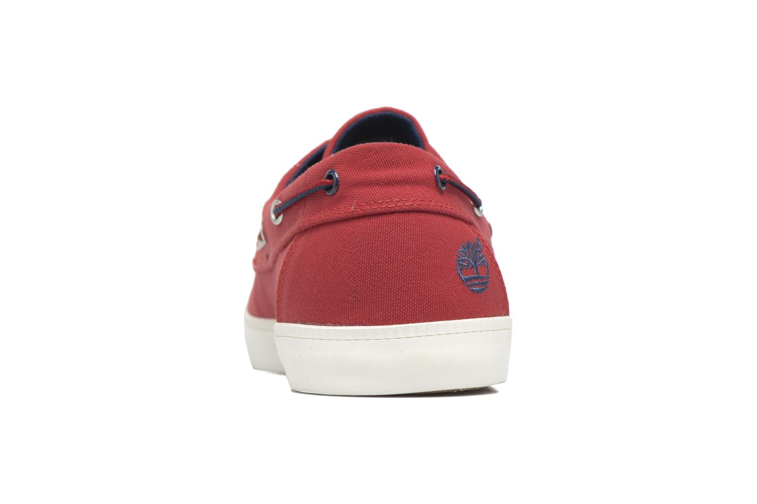Chaussures à lacets Timberland Newport Bay 2 Eye Boat Ox Rouge vue droite