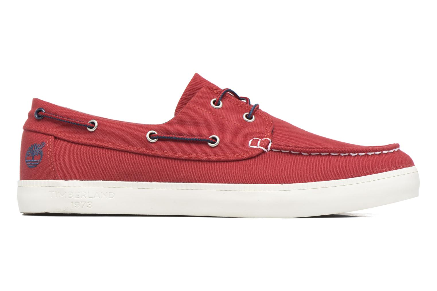 Chaussures à lacets Timberland Newport Bay 2 Eye Boat Ox Rouge vue derrière