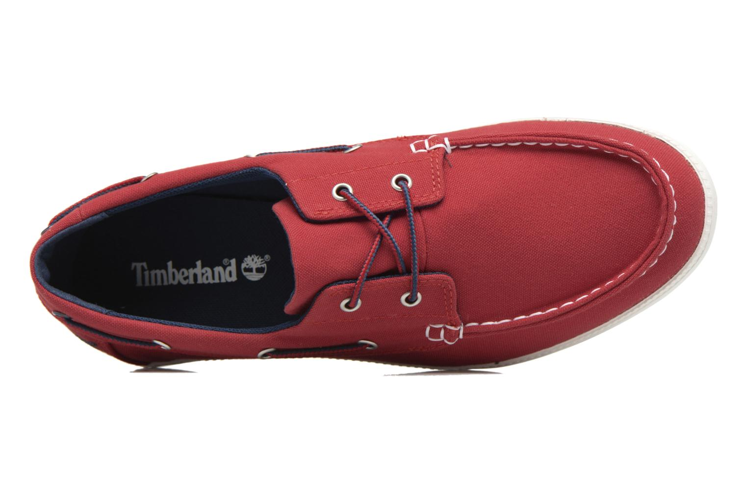 Chaussures à lacets Timberland Newport Bay 2 Eye Boat Ox Rouge vue gauche