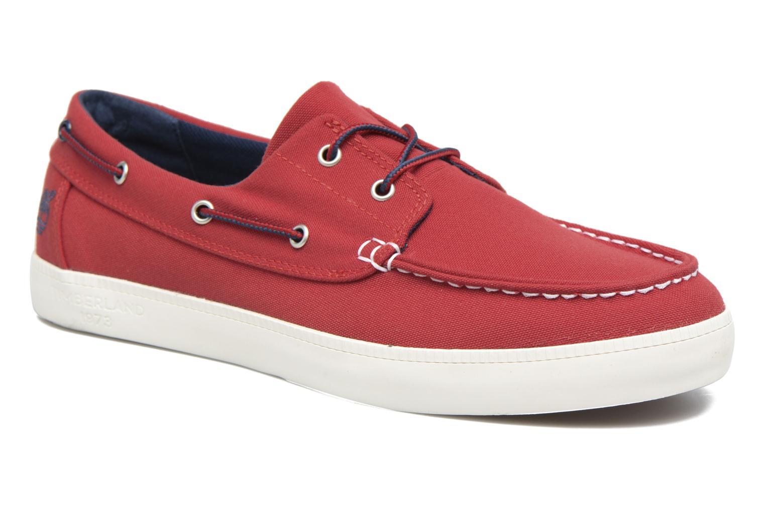 Chaussures à lacets Timberland Newport Bay 2 Eye Boat Ox Rouge vue détail/paire