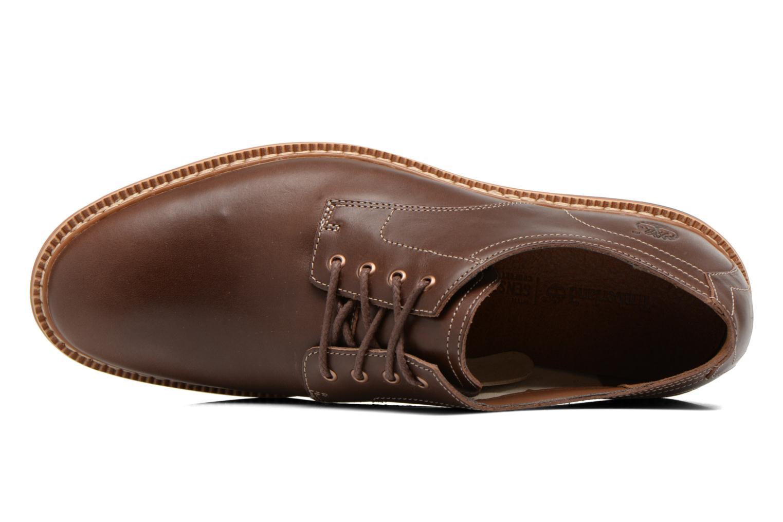 Zapatos con cordones Timberland Naples Trail Oxford Marrón vista lateral izquierda