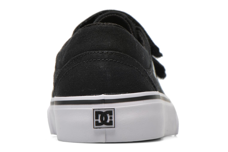 Sneaker DC Shoes Trase V Kids schwarz ansicht von rechts