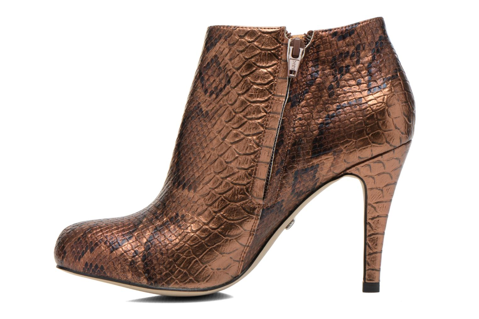 Bottines et boots Buffalo Emma Or et bronze vue face