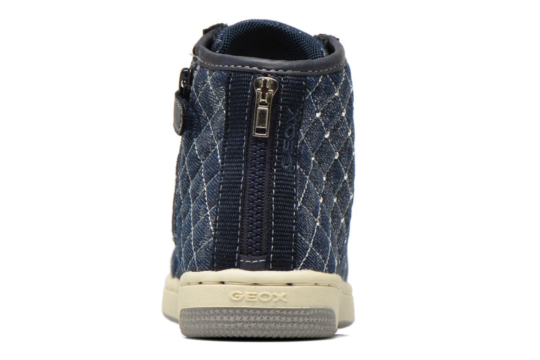 Baskets Geox J Creamy B J54L5B Bleu vue droite