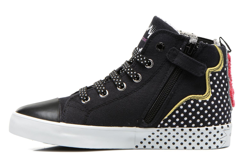 Sneaker Geox J Ciak G. A J6204A schwarz ansicht von vorne