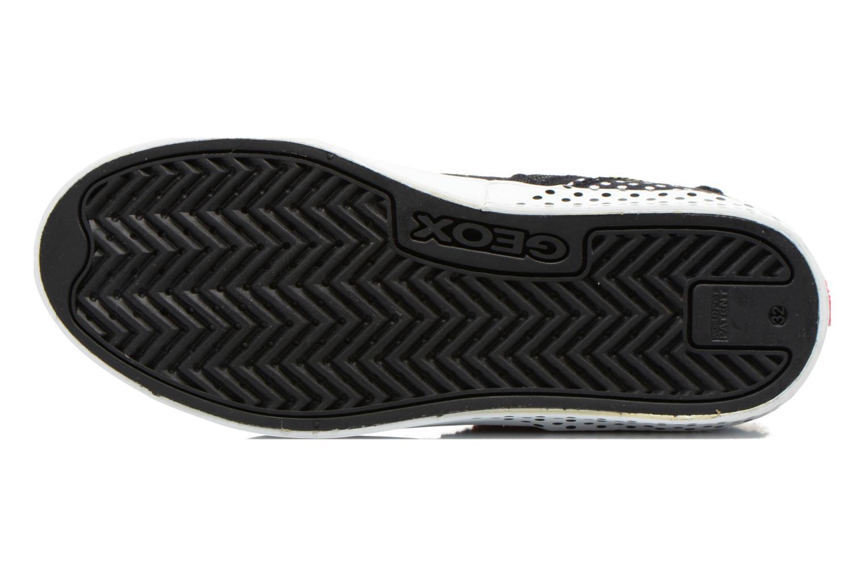 Sneaker Geox J Ciak G. A J6204A schwarz ansicht von oben