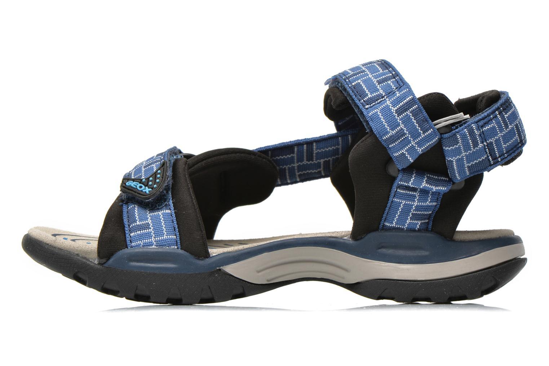 Sandales et nu-pieds Geox J Borealis B. D J620RD Bleu vue face
