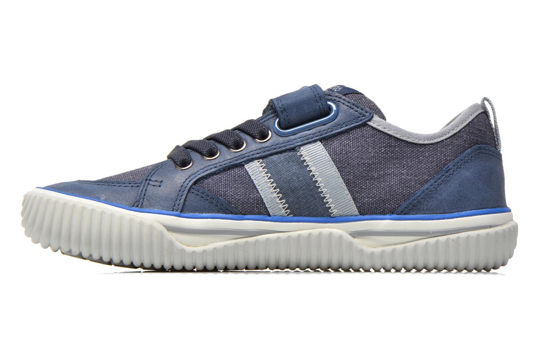 Baskets Geox J Australis B. A J620UA Bleu vue face