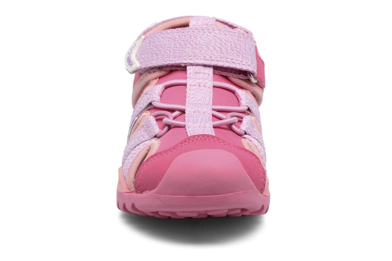 Sandales et nu-pieds Geox J Borealis G. B J620WB Rose vue portées chaussures