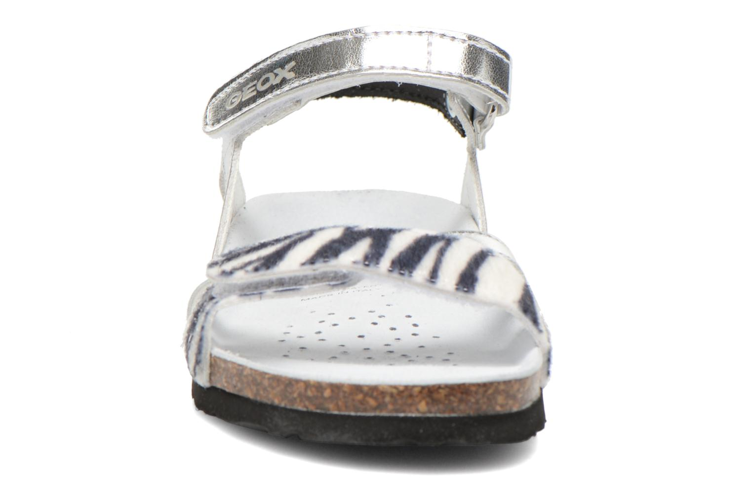 Sandals Geox J N.S.Aloha G. A J621CA Silver model view
