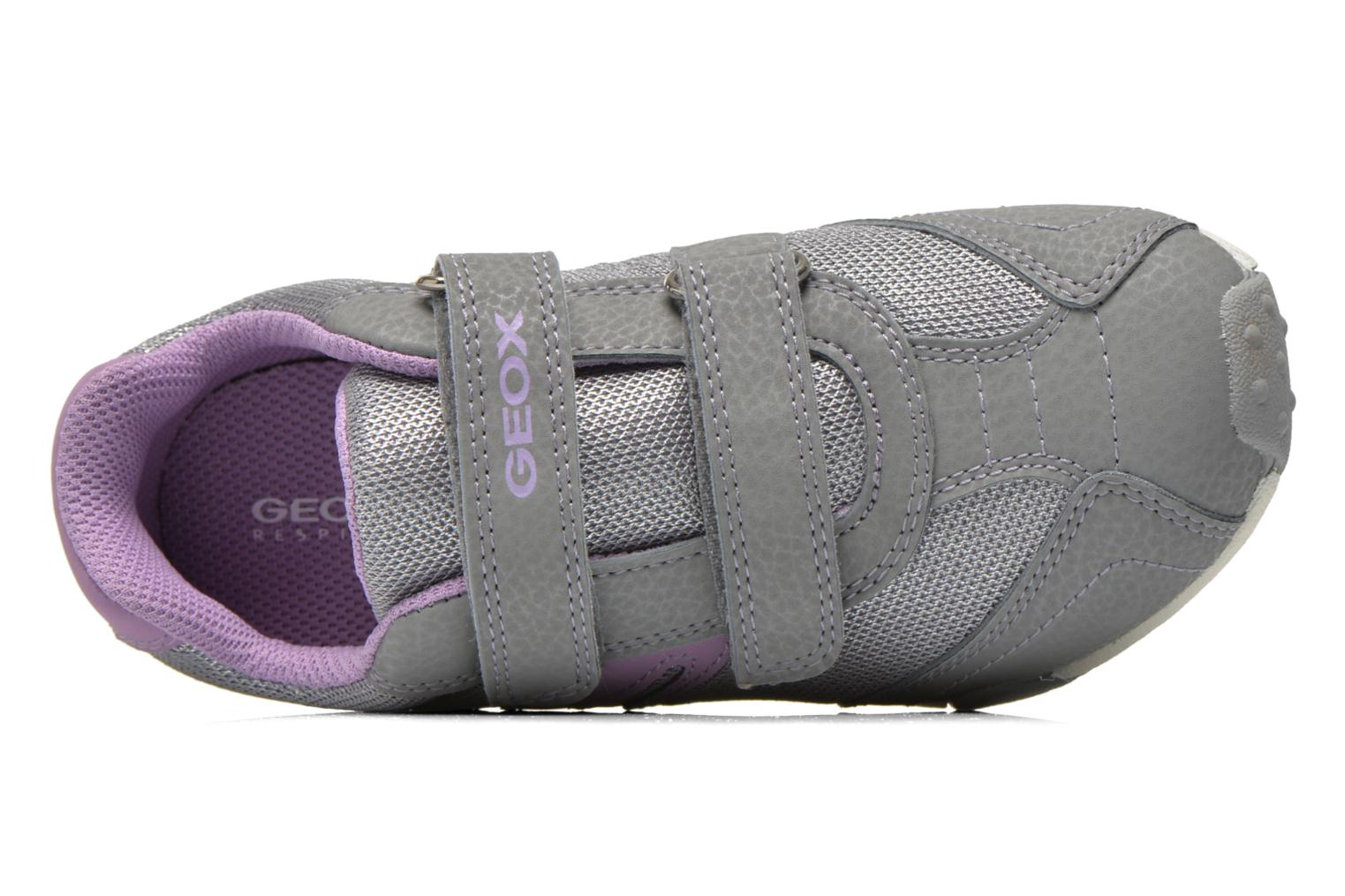 Trainers Geox J Tale A J6221A Grey view from the left