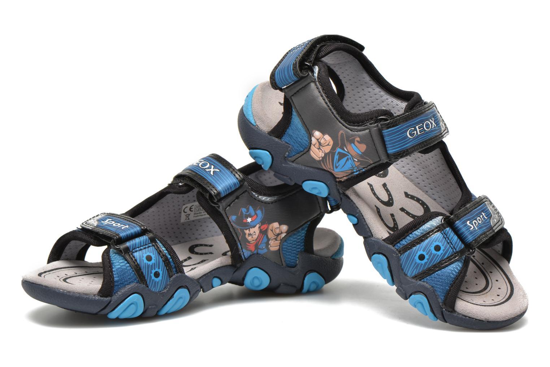Sandales et nu-pieds Geox J Sand.Strike A J6224A Bleu vue 3/4