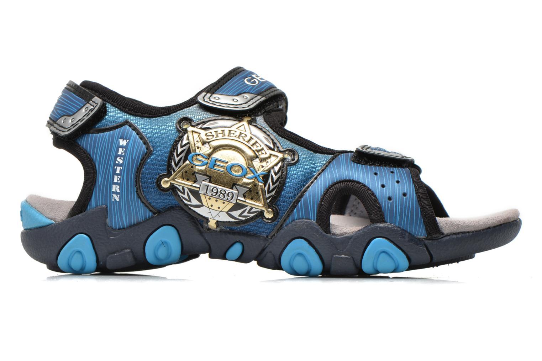 Sandales et nu-pieds Geox J Sand.Strike A J6224A Bleu vue derrière