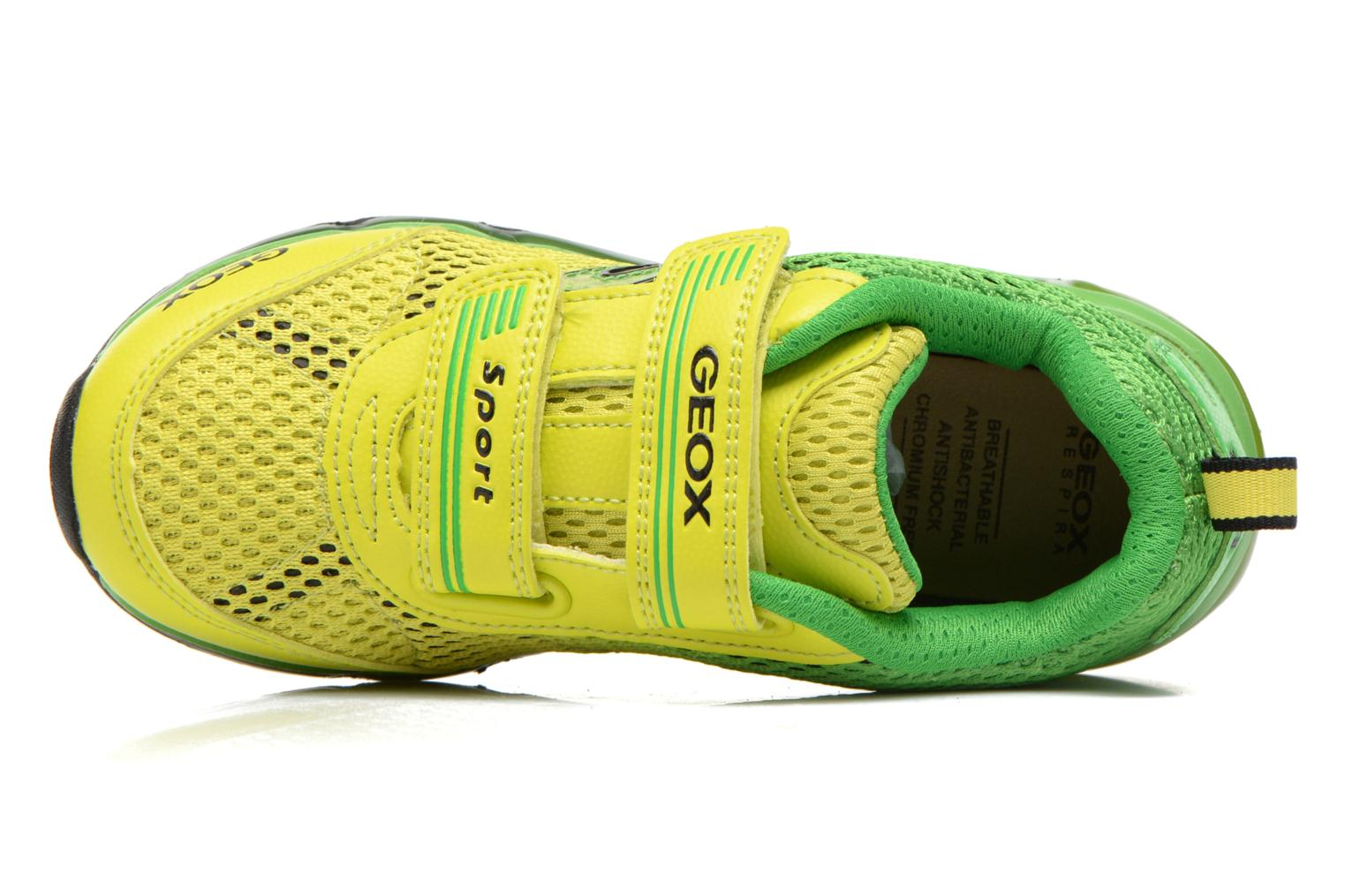 Trainers Geox J Android B. C J6244C Green view from the left