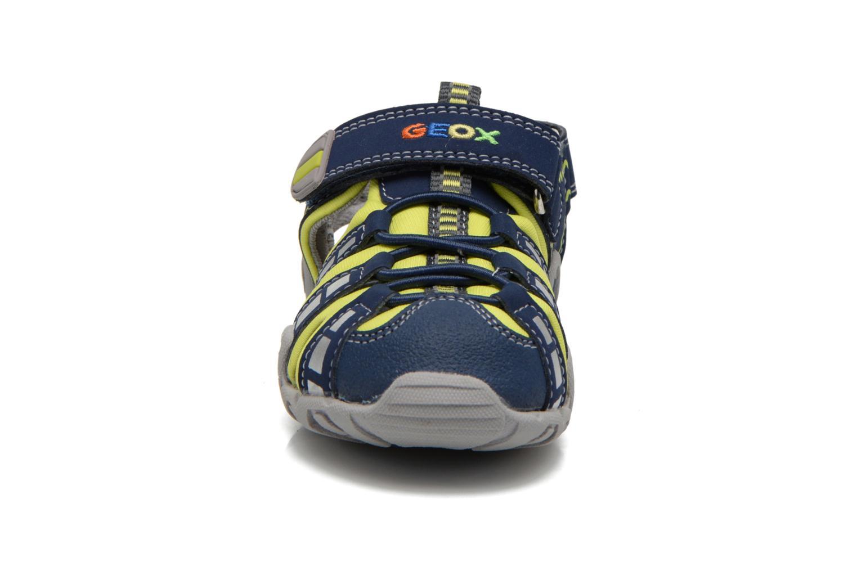Sandali e scarpe aperte Geox B Sandal Kraze B B6224B Azzurro modello indossato