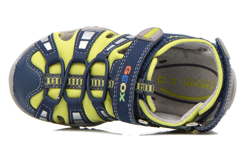 Sandalen Geox B Sandal Kraze B B6224B Blauw links