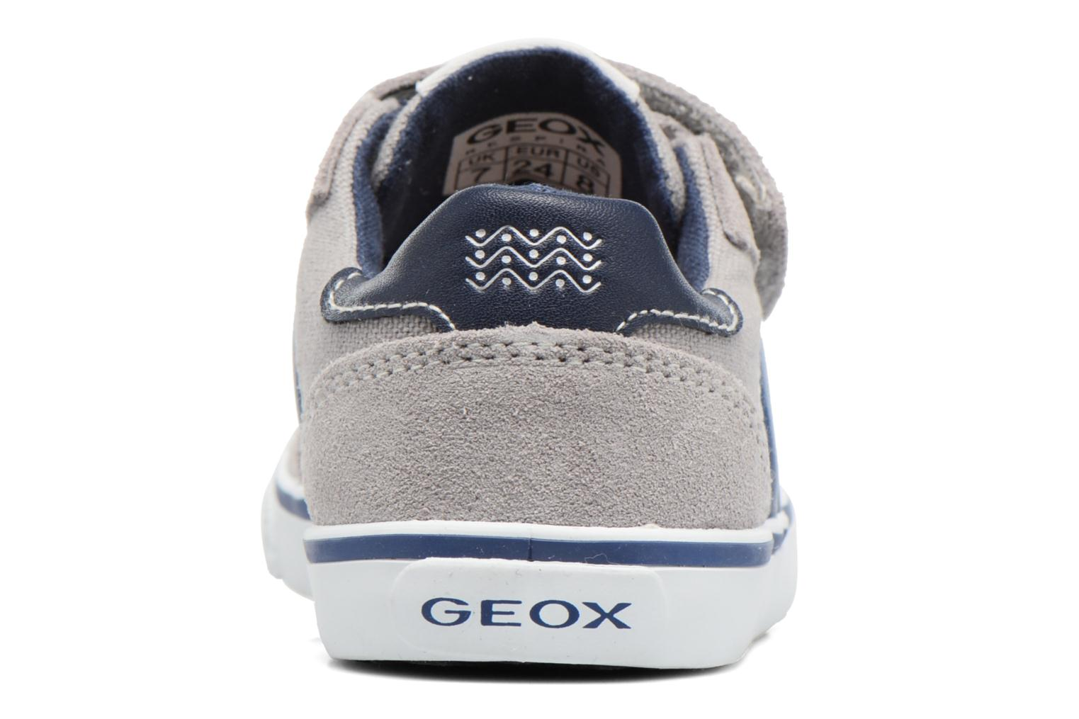 Trainers Geox B Kiwi B. E B62A7E Grey view from the right