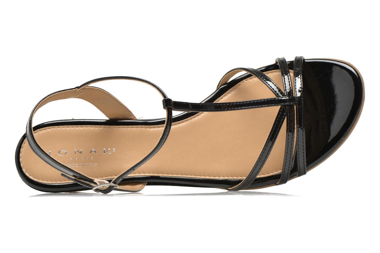 Sandales et nu-pieds Jonak Rozie Noir vue gauche