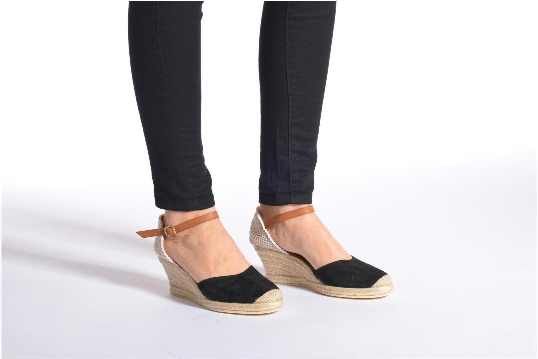 Sandales et nu-pieds Jonak Solange Or et bronze vue bas / vue portée sac