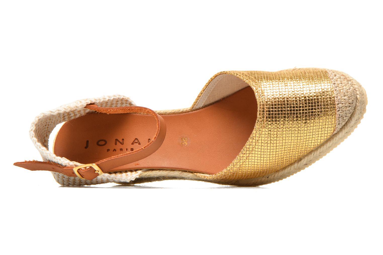 Sandales et nu-pieds Jonak Solange Or et bronze vue gauche
