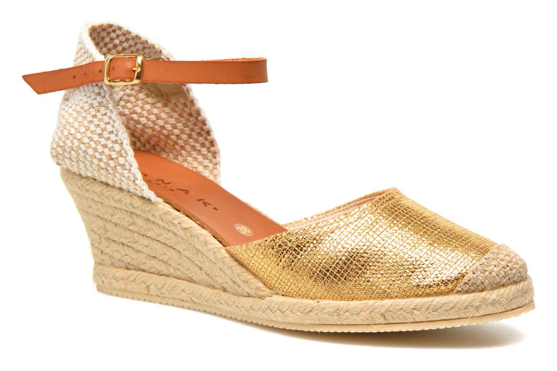 Sandales et nu-pieds Jonak Solange Or et bronze vue détail/paire