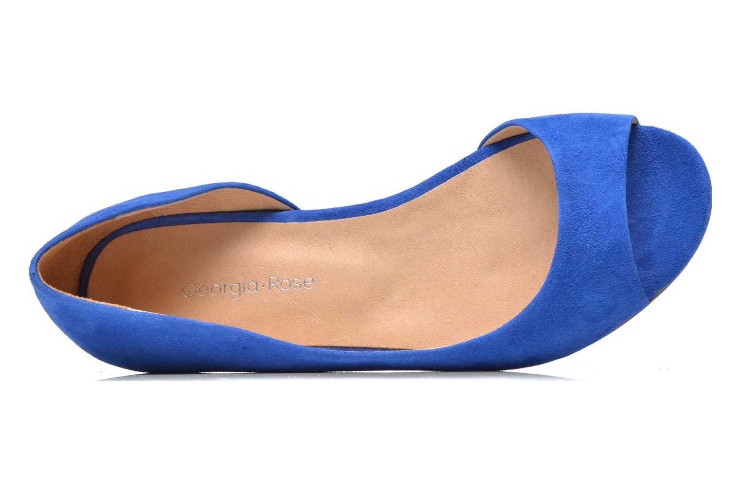 Ballet pumps Georgia Rose Emoto Blue view from the left