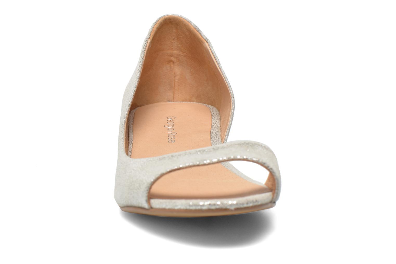 Ballerines Georgia Rose Emoto Argent vue portées chaussures
