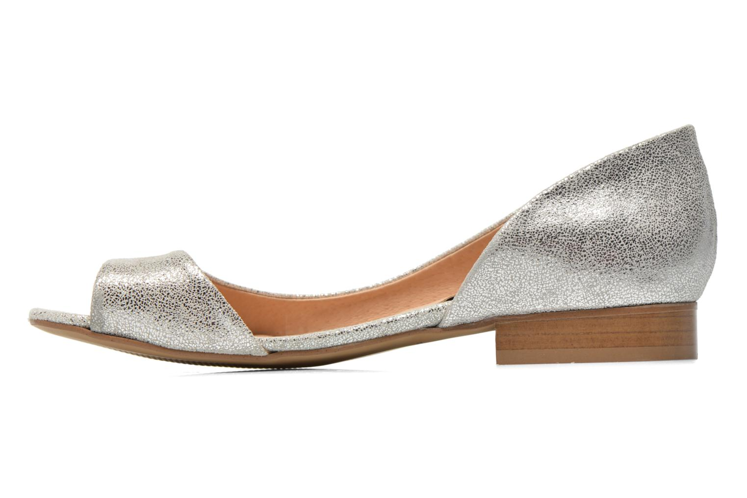 Ballet pumps Georgia Rose Emoto Silver front view