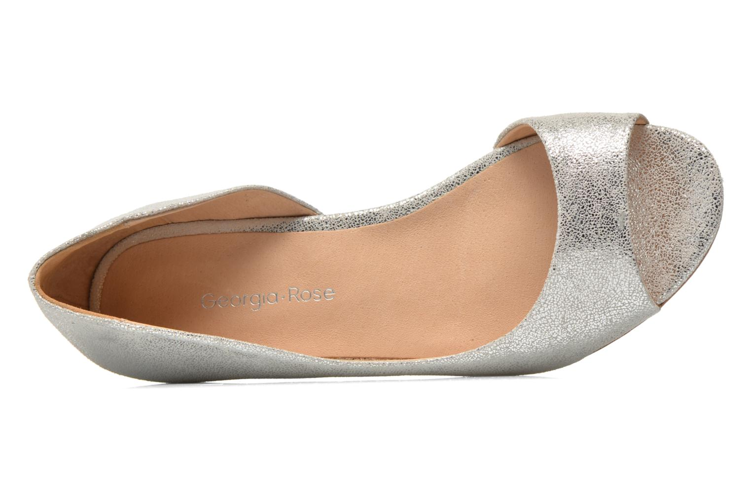 Ballet pumps Georgia Rose Emoto Silver view from the left