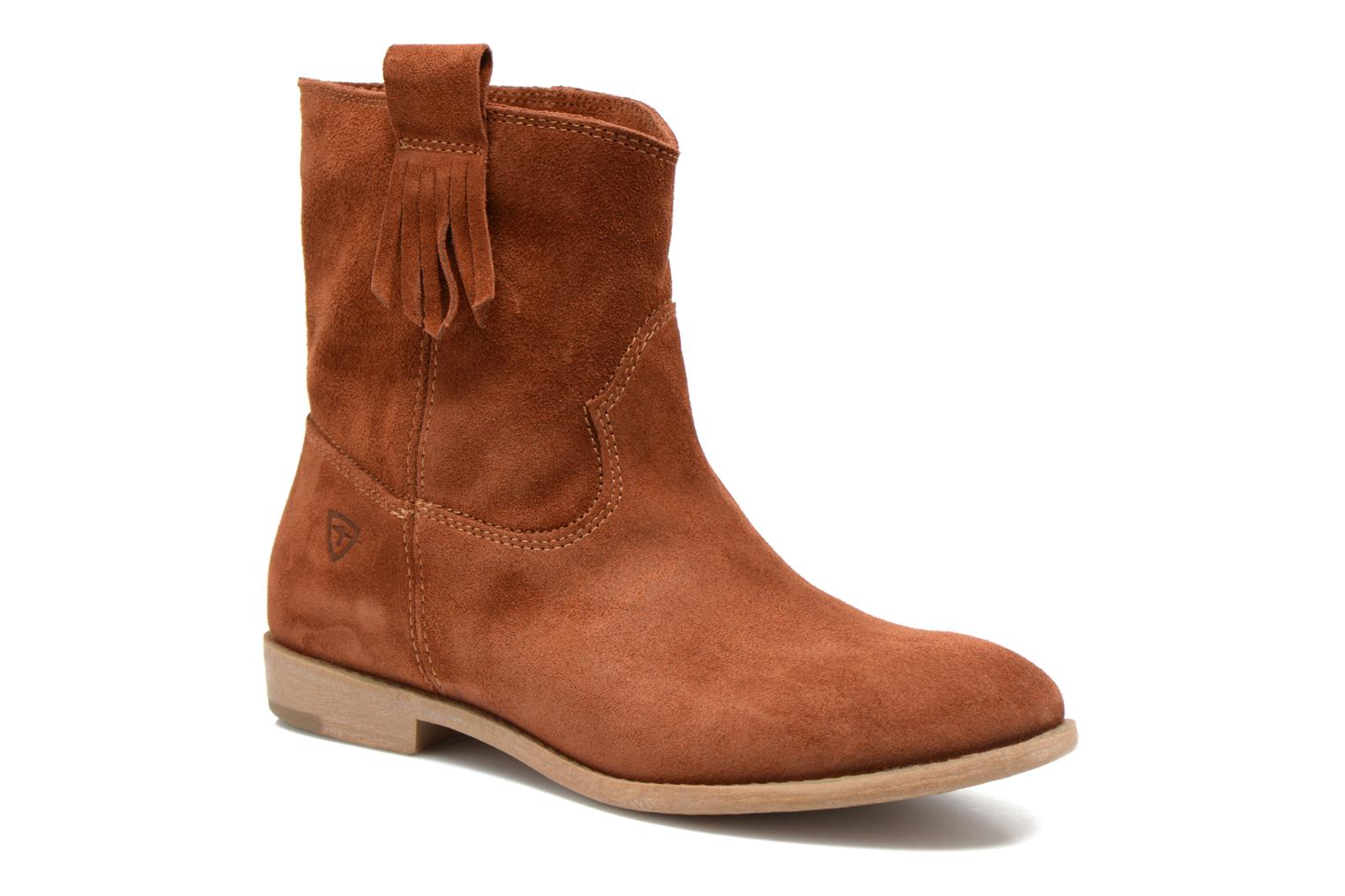 Ankle boots Tamaris Selina Brown detailed view/ Pair view