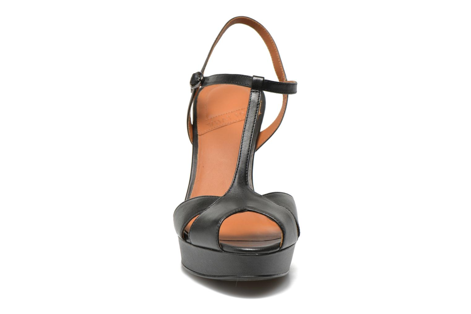 Sandals What For Damya Black model view