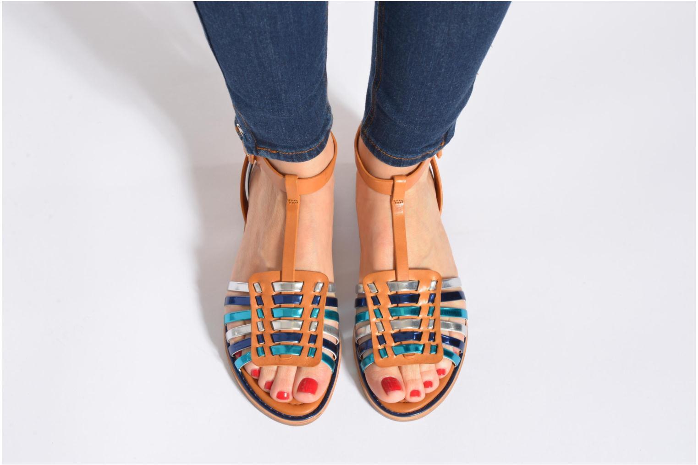 Sandalen What For Pralie mehrfarbig ansicht von unten / tasche getragen