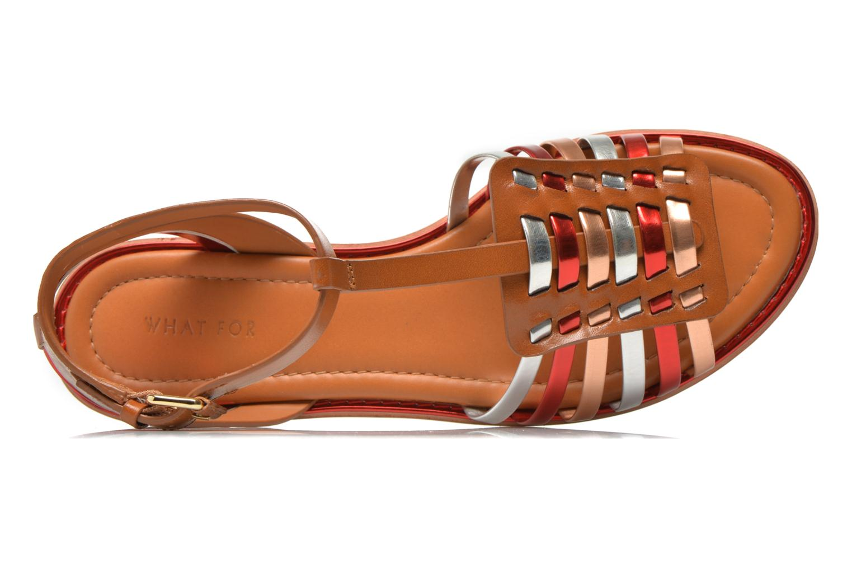 Sandales et nu-pieds What For Pralie Multicolore vue gauche