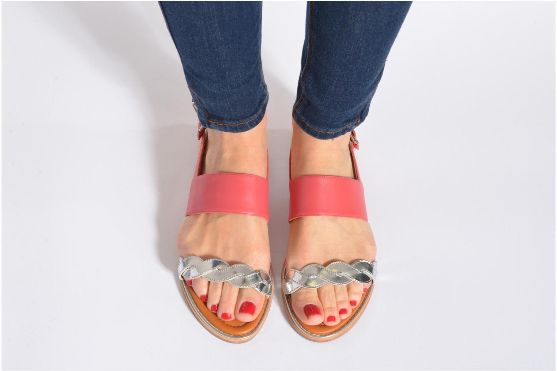 Sandalen What For Kimie mehrfarbig ansicht von unten / tasche getragen