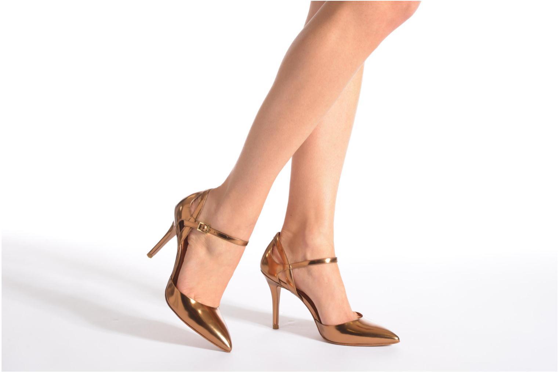 Zapatos de tacón What For Dorothy Oro y bronce vista de abajo