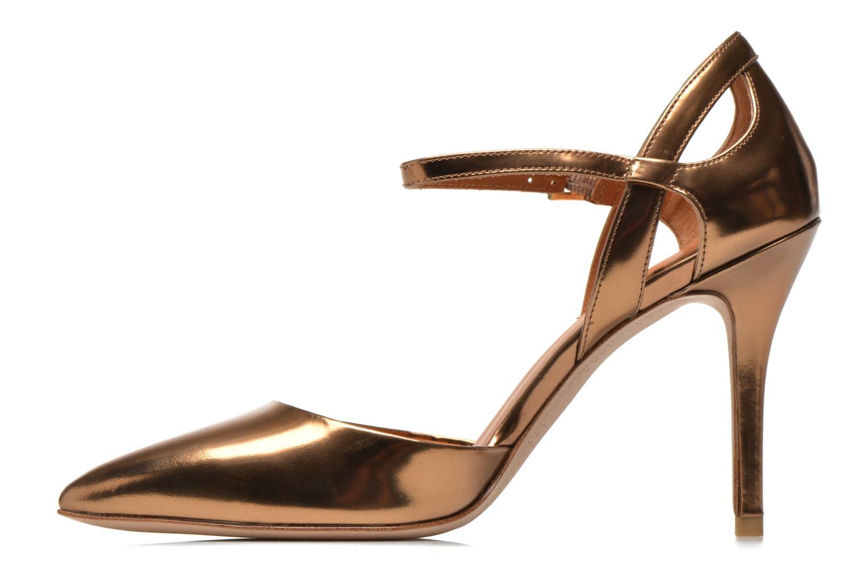 Zapatos de tacón What For Dorothy Oro y bronce vista de frente