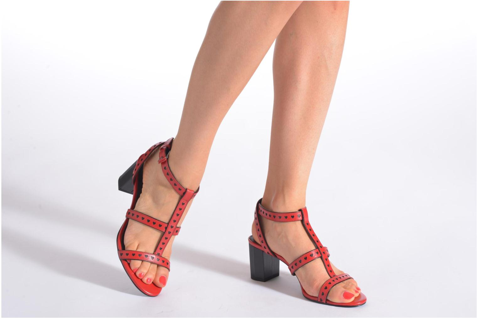 Sandals What For Pandora Red view from underneath / model view