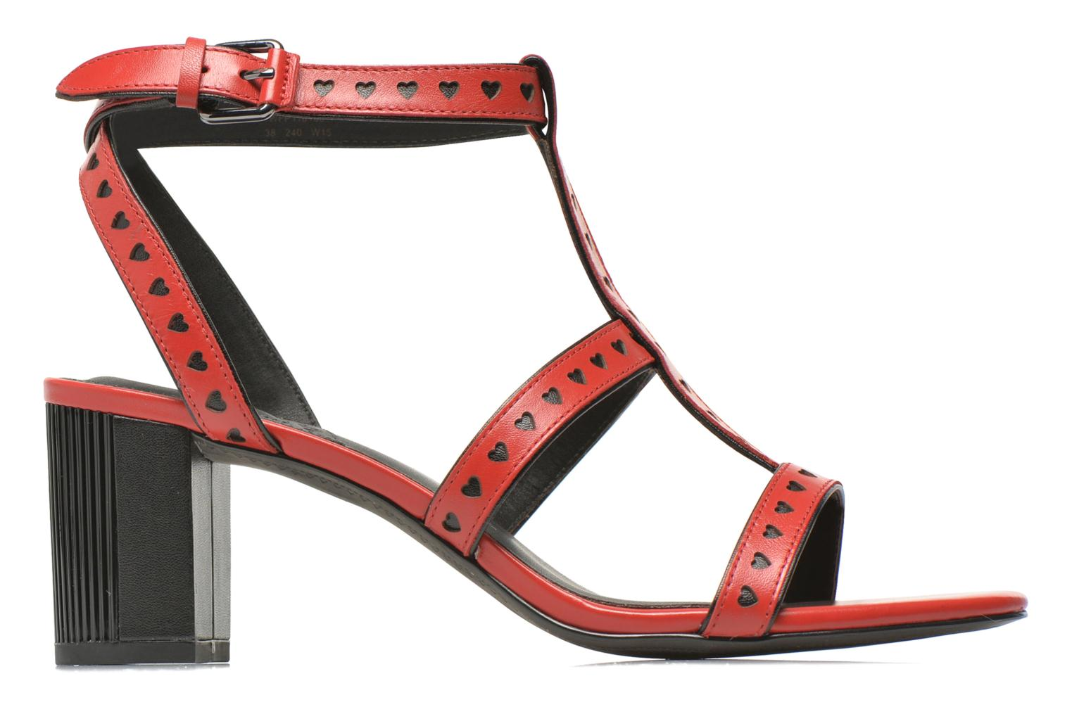 Sandals What For Pandora Red back view