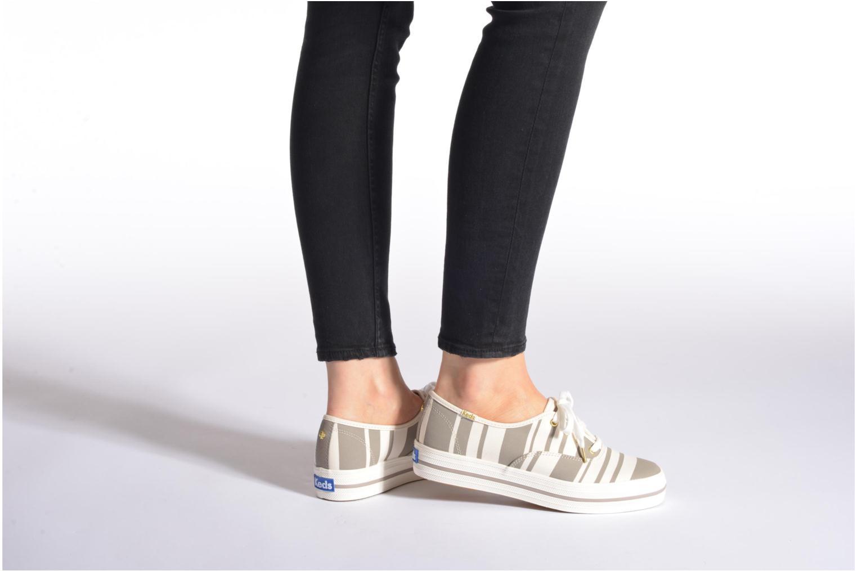 Sneakers Keds Triple Fairemont Stripe Grigio immagine dal basso
