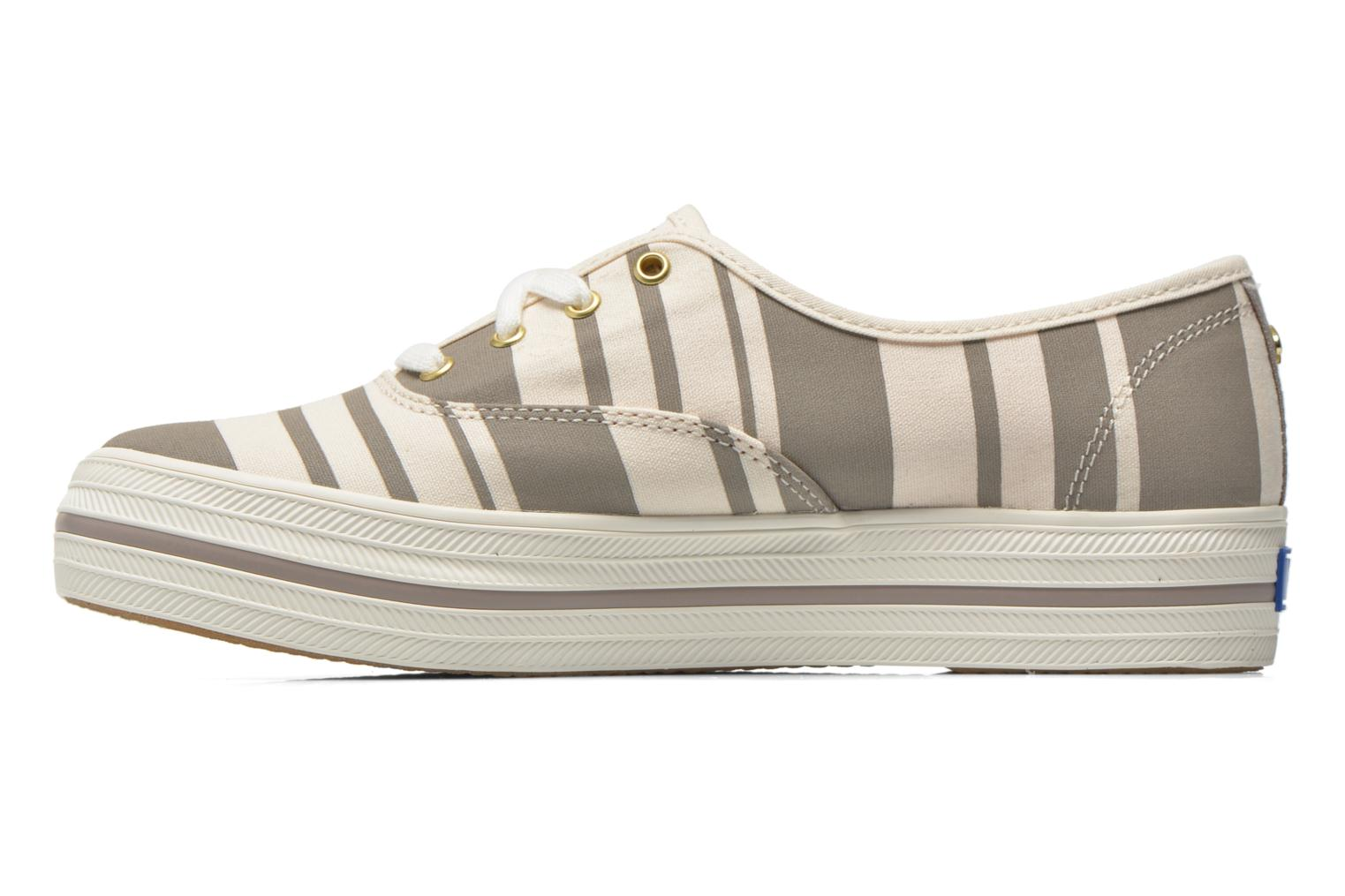 Trainers Keds Triple Fairemont Stripe Grey front view