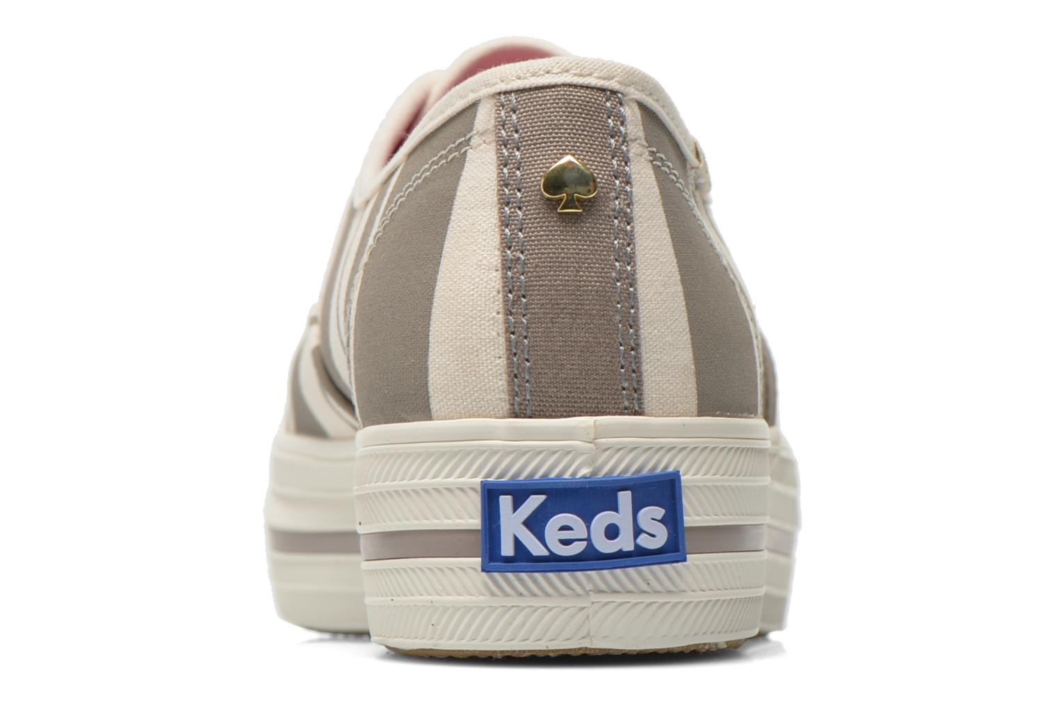 Trainers Keds Triple Fairemont Stripe Grey view from the right